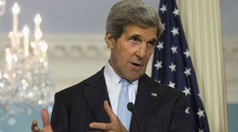 Kerry spoke briefly with Lavrov this morning in advance of their meeting in London on Saturday. (AP)