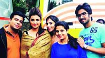 Parineeti Chopra looks striking with her streaked hair as she poses with her fans, right after a shot