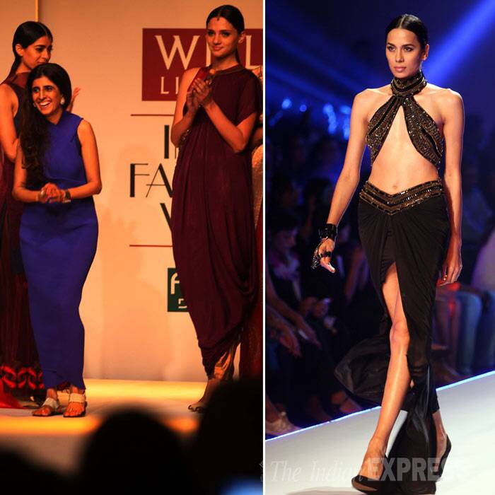 Designer Kiran Uttam Ghosh also showcased her collection at the WIFW. (IE Photo: Amit Mehra)