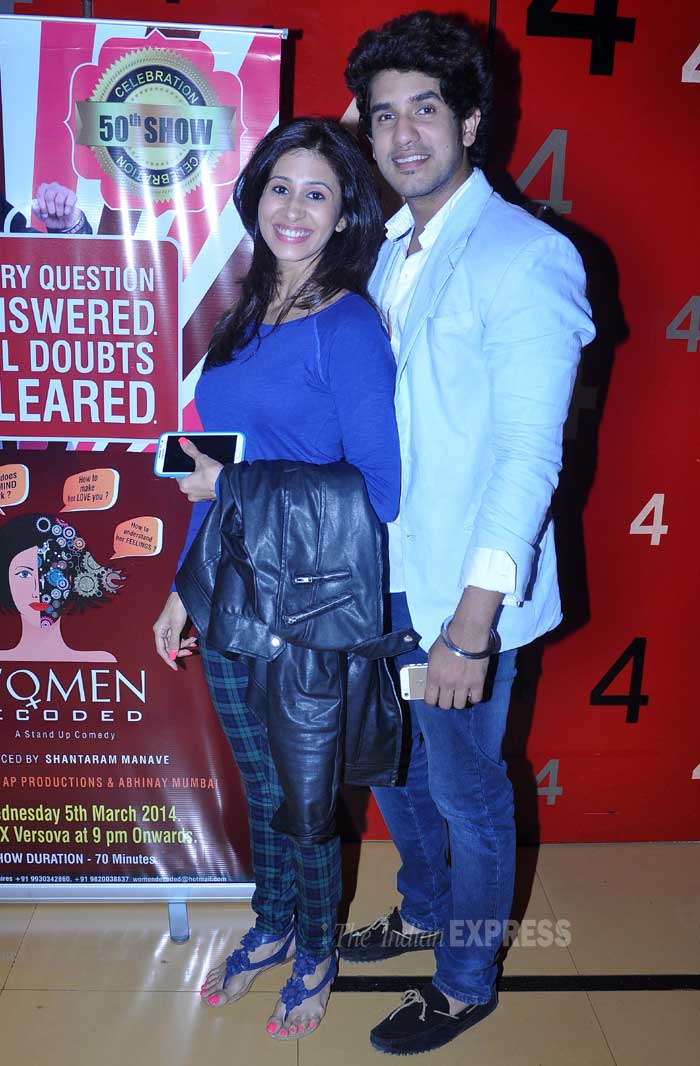Film and television actress Kishwar Merchant with her boyfriend Suyash Kumar. (Photo: Varinder Chawla)