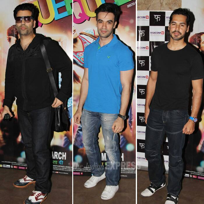 Dino, Puneet, Karan watch 'Queen'