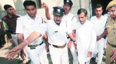 Saradha group chairman Sudipta Sen coming out from Calcutta High Court, Tuesday. (Subham Dutta)