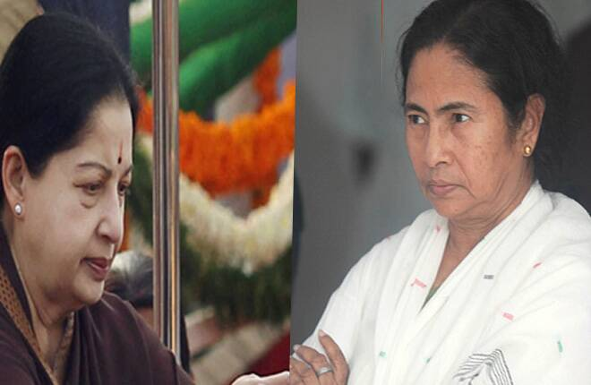 Jaya, Mamata talk 'post-poll action plan'