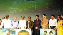Vairamuthu, Balachander, Rajinikanth, A.R. Rahman, Shah Rukh Khan, Deepika Padukone, Murali Manohar and  Soundarya Rajinikanth at the trailer launch of Kochadaiiyaan