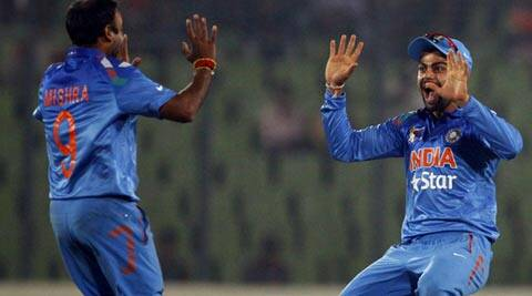 Virat Kohli said the decision to draft in Amit Mishra was taken after their loss to Sri Lanka in the previous match (AP)