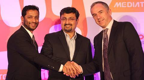Vikas Jain, Co-Founder, Micromax with Anupam Vasudev of Aircel and Dr Finbarr Moynihan of MediaTek