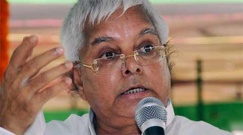 Lalu Prasad held a public rally at Bikram, 40 km from Patna, late last evening to garner support for RJD candidate and her daughter Misa Bharti. (Reuters)