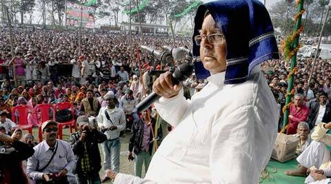 "Lalu Prasad also questioned why Modi was ""fleeing from his own state"". (PTI)"