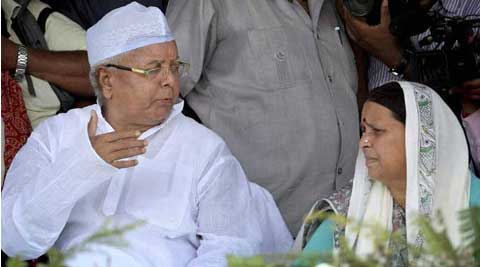 Lalu and his wife Rabri Devi. (PTI)