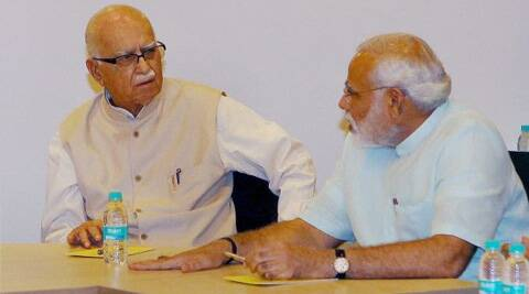 Modi went to Advani's  residence and was there for about half-an-hour apparently to persuade him to contest from Gandhinagar. (PTI)