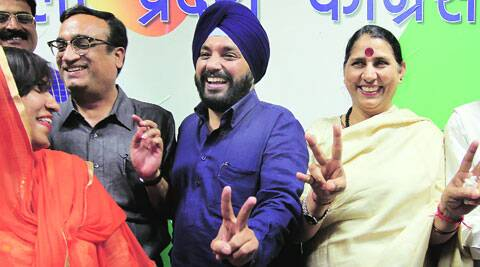 Sitting Congress MP Krishna Tirath (right) said the BJP had insulted voters by selecting 'outsider' Udit Raj as its Northwest Delhi candidate. (Ravi Kanojia)