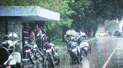 The region has been lashed by heavy hailstorm and rainfall in past few days.