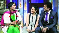 Sunil Grover as Chutki with Govinda and Karisma Kapoor in  Mad In India