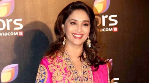 Madhuri Dixit is currently promoting 'Gulaab Gang'.