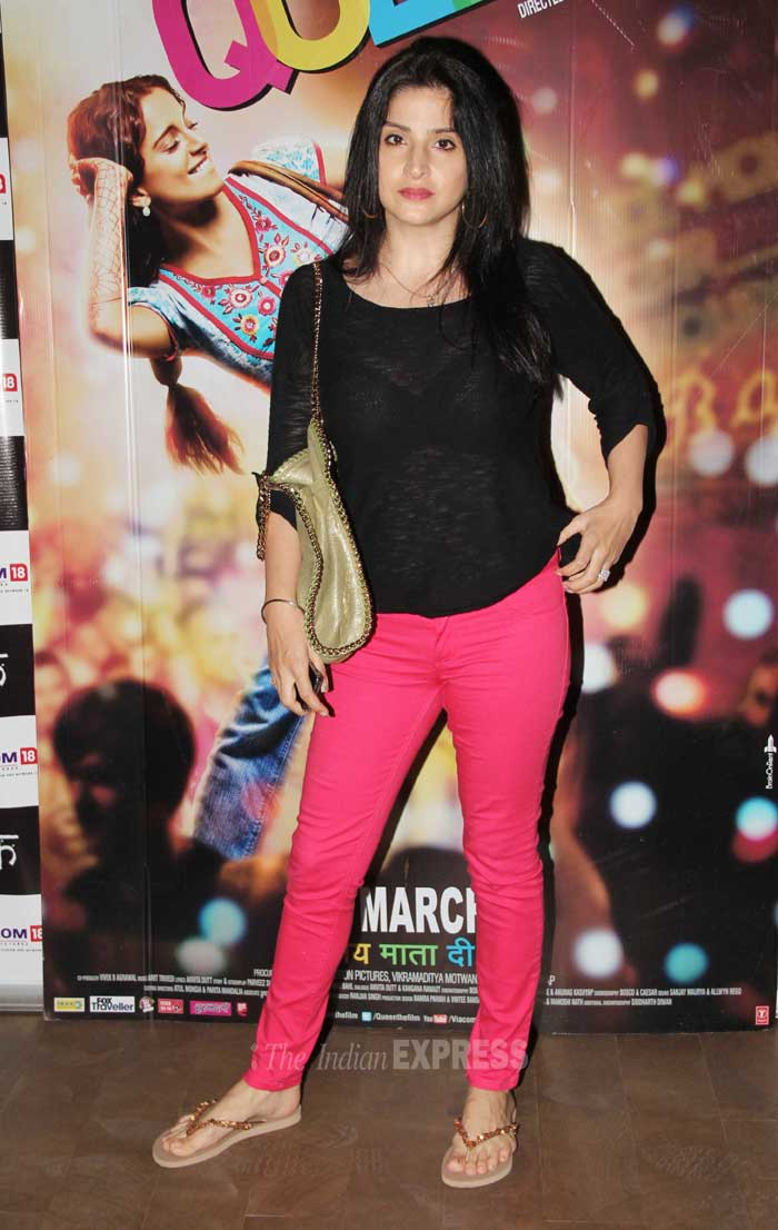 Sanjay Kapoor's wife, designer Maheep was cool in a black top and candy coloured pants. (Photo: Varinder Chawla)