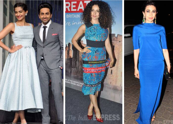 As usual, Wednesday (March 12) was super-busy for our Bollywood stars. While Ayushmann Khurranna and Sonam Kapoor promoted their upcoming flick, 'Bewakoofiyaan', Kangana Ranaut along with Boman Irani and Abhay Deol attended an app launch in Mumbai. On the other hand, Karisma Kapoor was the highlight at a jewellery store inauguration.