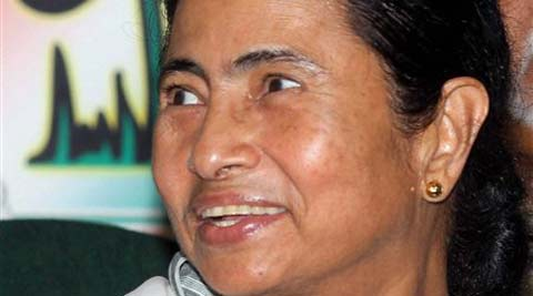 :Trinamool Congress Supremo and West Bengal Chief Minister Mamata Banerjee at a press conference to announce candidates for Lok Sabha elections at her residence in Kolkata on Wednesday. (PTI Photo)
