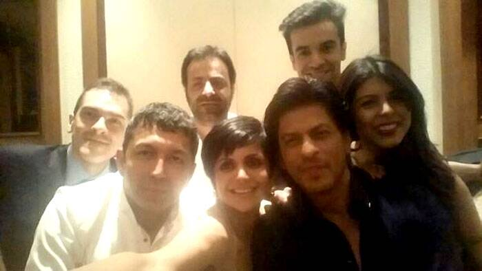 Mandira Bedi's selfie included Bollywood biggies like Shah Rukh Khan, filmmakers Kunal Kohli and Punit Malhotra among other.