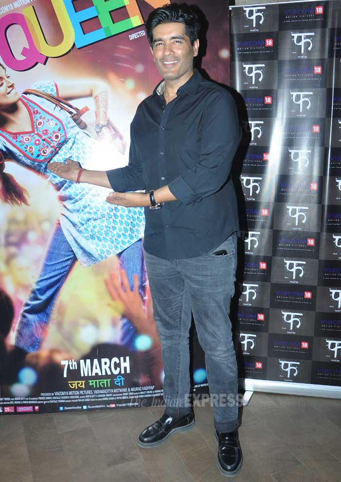 Designer Manish Malhotra was also there to lend his support to the cast. (Photo: Varinder Chawla)