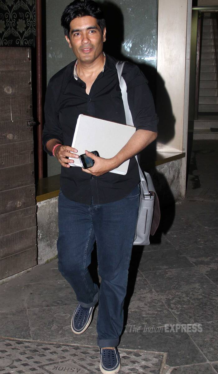 Manish was dressed in a black shirt, denims and loafers. (Photo: Varinder Chawla)