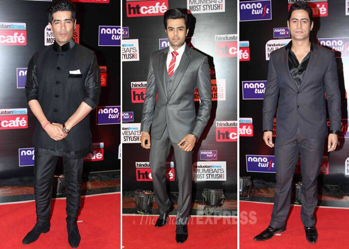 Stylish men on the block – Designer Manish Malhotra, actor and television presenter Manish Paul and television actor Mohit Raina.
