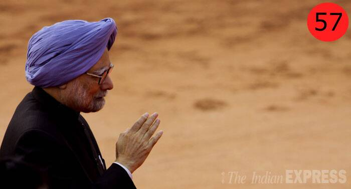 <b>Manmohan Singh</b> (81), Prime Minister<br /> <b>Why</b>: By virtue of being the Prime Minister, although in his last days in office, he appears to be a pale shadow of his former self. But he still enjoys unparalleled support from Sonia Gandhi.