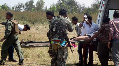 While the police claimed the area was regularly sanitised as road construction work was on and forces were deployed to protect the workers, the Maoists had laid several IEDs on the road, and wires of some were still seen.  PTI