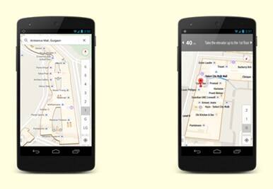 Google maps of Gurgaon's Ambience and Delhi's Select City Walk malls