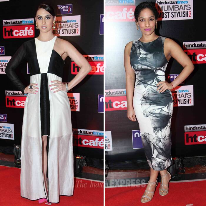 Monochrome divas – Television actress Lauren Gotileb and designer Masaba Gupta. (Photo: Varinder Chawla)