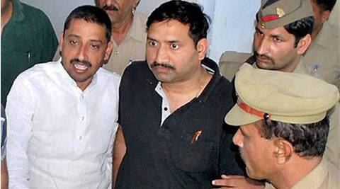Saharanpur:Congress Lok Sabha candidate Imran Masood being produced in a court in Saharanpur on Saturday.