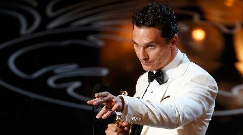 The spoof was inspired by McConaughey's introspective acceptance speech at the 86th annual Academy Awards. (Reuters)