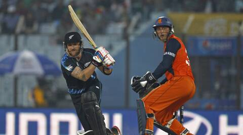 Brendom McCullum guided New Zealand to a comfortable victory over minnows Netherlands on Saturday. (AP)