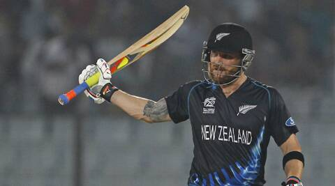 New Zealand captain Brendon McCullum, coming in at No.3, made 62 off just 45 balls. New Zealand won by six wickets. (AP)