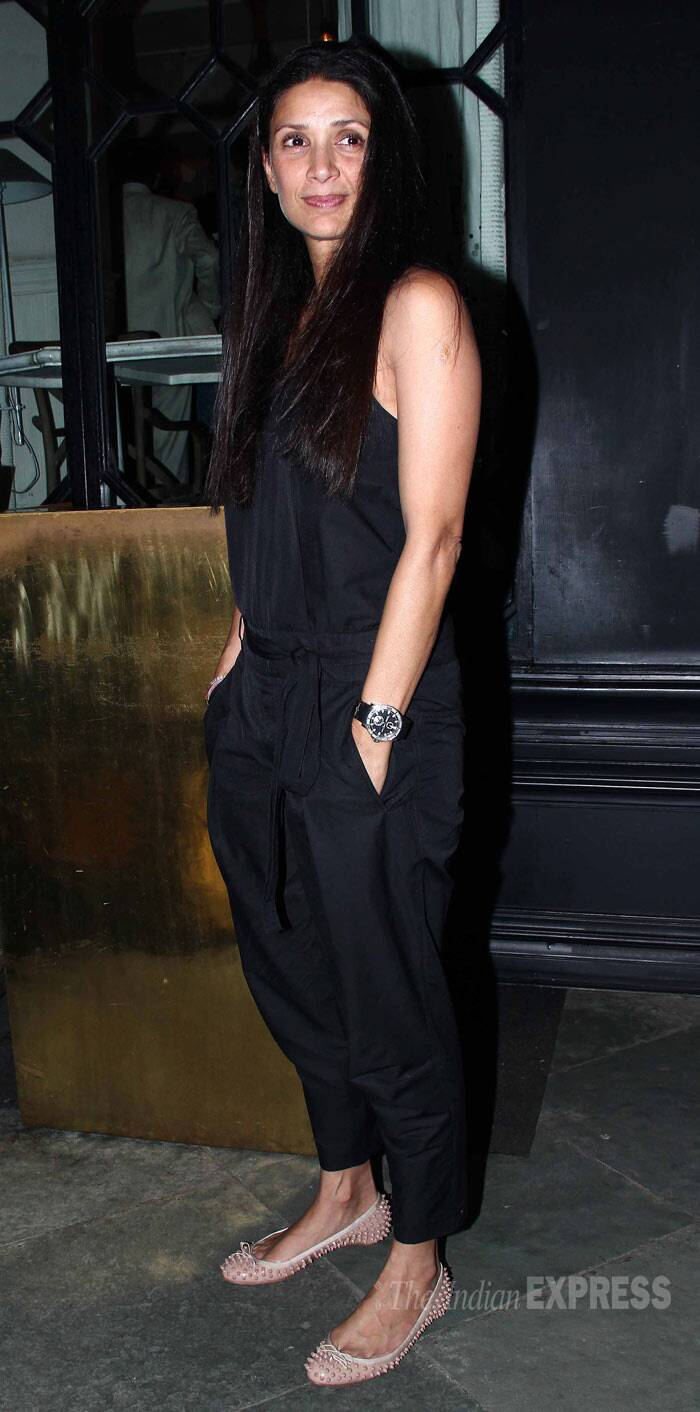 Arjun Rampal's wife and former model Mehr was casual in a black jumpsuit with ballerinas. (Photo: Varinder Chawla)