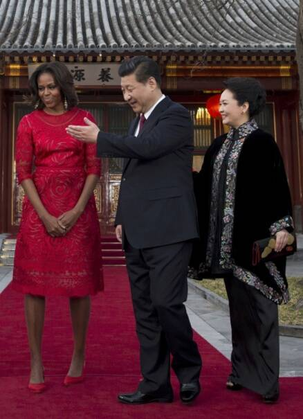 Michelle Obama, daughters Shasha, Malia style up China