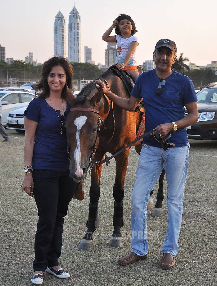 'The Dirty Picture' director Milan Luthria and his wife Lianne were accompanied by their daughter who enjoyed a horse ride. (Photo: Varinder Chawla)