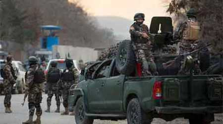 Insurgents attacked the headquarters of the Afghan election commission in Kabul on Saturday.