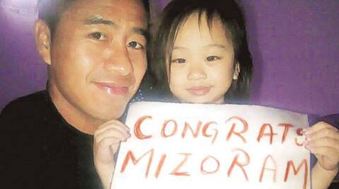 Malsawmtluanga, the first footballer from Mizoram to become a top professional, congratulates the team