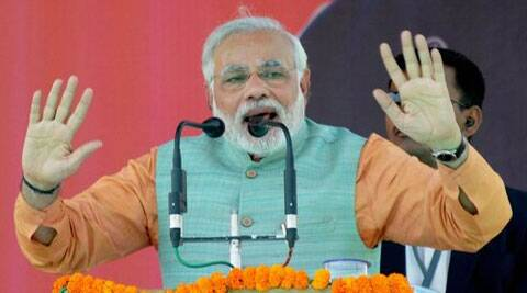 Narendra Modi said the Congress first seeks support from the people and then cheats them. (AP)