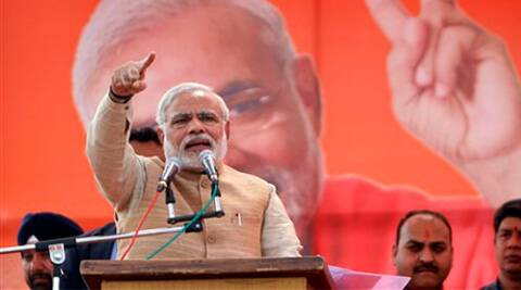 """The youth in UP are jobless, small scale industries are being shut, what is the SP government doing?"", asked Narendra Modi. (AP)"