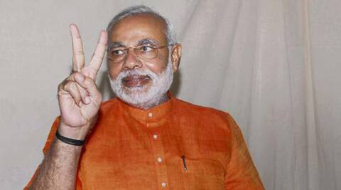 After the Election Commission (EC) announced the polling dates , Modi  appealed voters to give BJP-led NDA a majority (PTI)