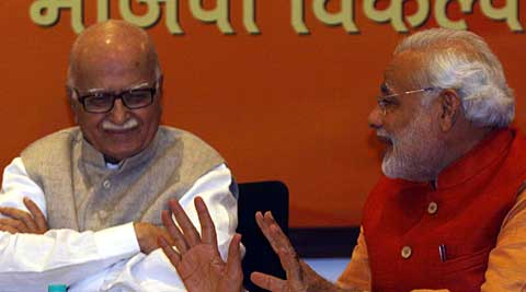 BJP decided to field L K Advani from Gujarat's Gandhinagar constituency despite his resistance. (Express Archive)