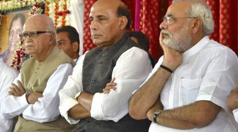 Advani and Rajnath are slated to file their nomination papers today.