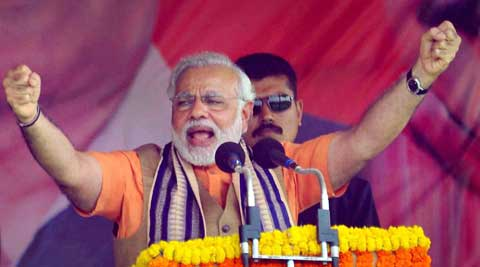 Grateful to the Party for giving me opportunity to contest the election from the holy city of Varanasi!: Modi tweeted. (PTI Photo)