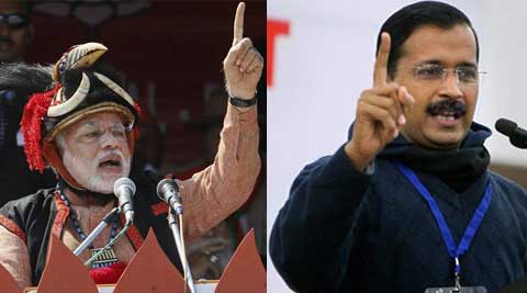 Arvind Kejriwal hit back at Narendra Modi over 'AK 49' jibe.