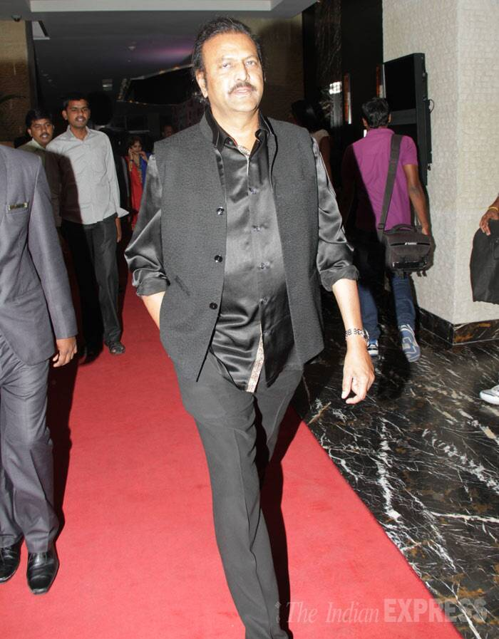 Telugu actor, director and producer Mohan Babu arrives. (Photo: Varinder Chawla)