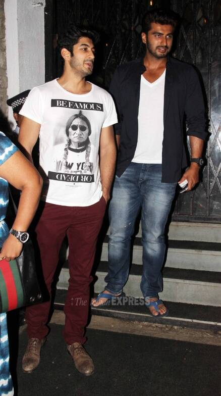 Arjun Kapoor's nighout with cousin Mohit Marwah and sister Anshula