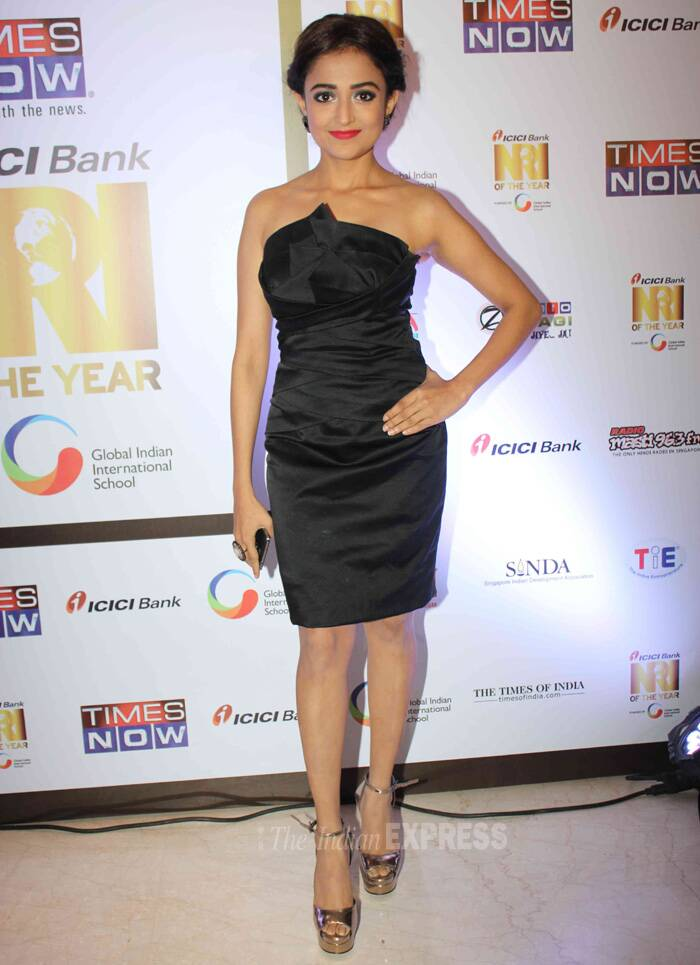 Singer-turned-actress Monali Thakur, whose release, 'Lakshmi' has just hit screens was pretty in a strapless LBD. (Photo: Varinder Chawla)