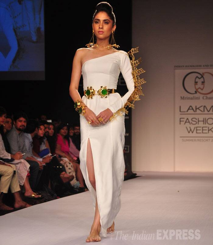 Designer Mirinalini Chandra also showcased her collection. (Photo: Varinder Chawla)