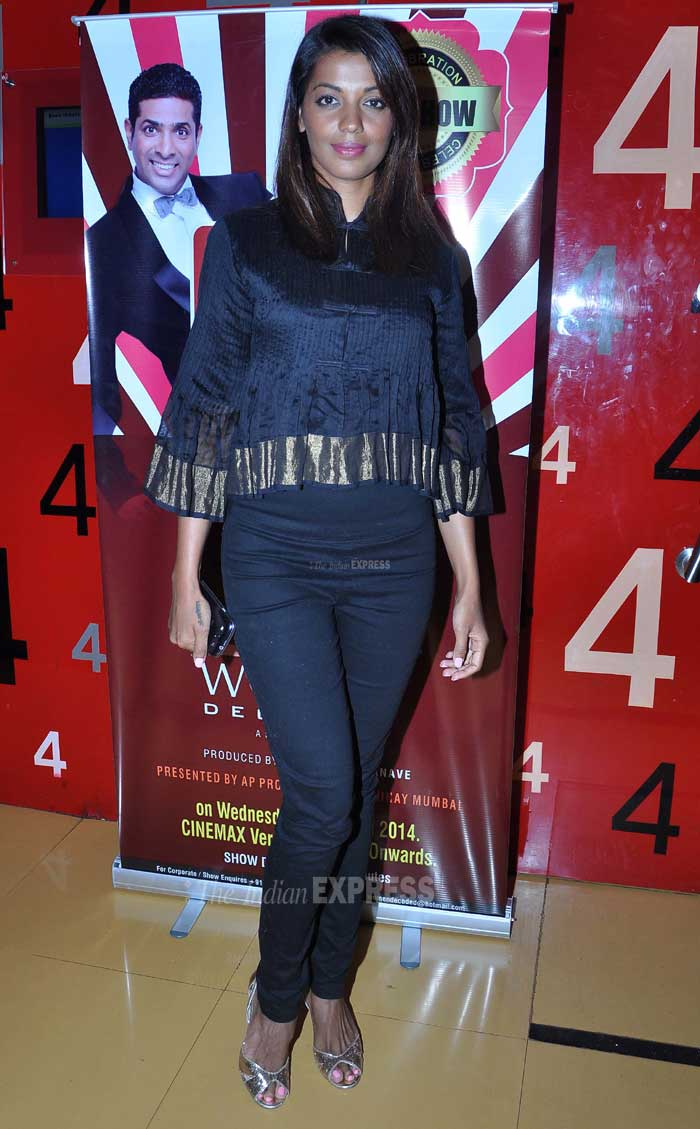 Meanwhile Mugdha Godse attended Paritosh Painter's 50th stand up comedy show - Women Decoded. Mugdha Godse was stylish as she attended a standup comedy show. (Photo: Varinder Chawla)
